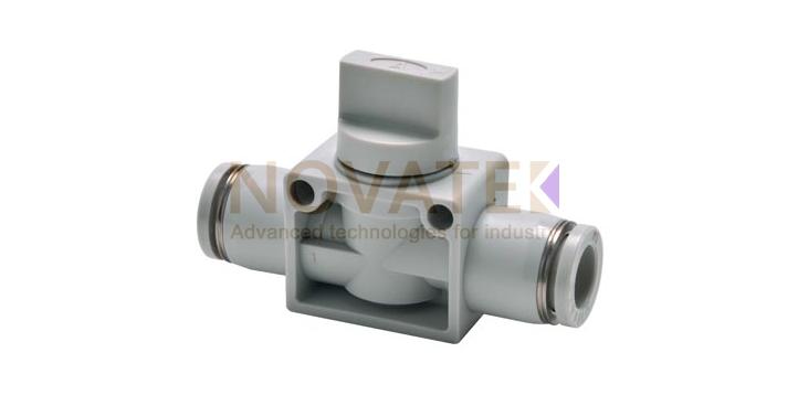 Ручной клапан с быстроразъемными цангами GPHV cерия